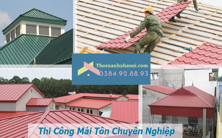 Nhận thay mái tôn chống nóng giá rẻ tại Hà Nội