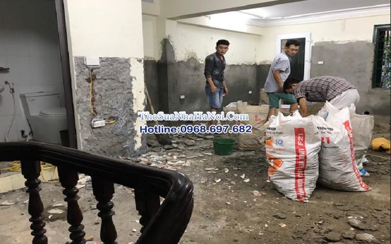 nhận thi công sửa nhà, ốp lát giá rẻ tại Thanh Xuân, Hà Nội